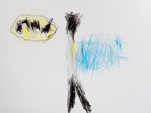 Batman by Bean 4yrs 6mths