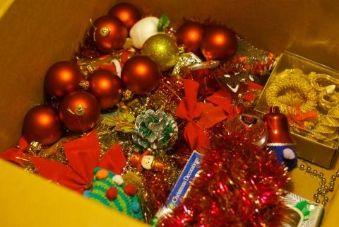 christmas sensory bin!